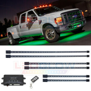LEDGlow 6pc Green Neon Wireless LED Truck Underbody Underglow Glow Lighting Kit