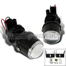 H3 12V/55W Glass Projector Clear Fog Lights w/ Bracket Pair