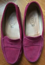Tods Suede Gommini Suede Moccasin Slip On Loafers Flats Sz 36 Driving Shoes