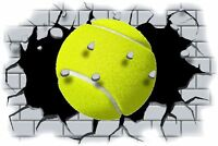 Huge 3D Tennis Ball Crashing through wall View Wall Sticker Mural Decal Film 103