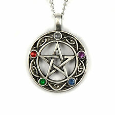 "Pentacle of Life Wiccan Pagan Gothic Celtic Pentagram Pendant Necklace 18"" Chain"