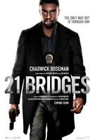 21 Bridges Movie Poster Photo Print Wall Art 8x10 11x17 16x20 22x28 24x36 27x40