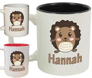 Personalised Hedgehog Name Novelty Mug / Cup   Cute animal gift coffee tea