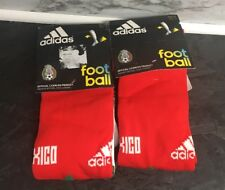 2 Pairs Of Official Product Adidas Men's Mexico Socks Red White Size 9-10 1/2