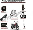 BLACK ACCESSORIES PACK OF 7 FOR ROYAL ENFIELD HIMALAYAN-411