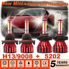 H13 9008 Hi//Lo 3200W LED Headlight+5202 Fog Bulb For Chevrolet Camaro 2010-2013