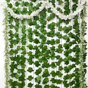 15-Pack (Aesthetic) Artificial Fake Vines Flowers Plants, 3-in-1 Bundle Decor