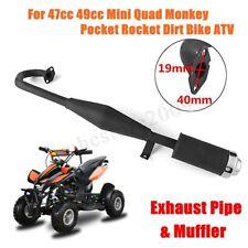 Black Muffler Exhaust Pipe For 49cc 47cc Mini Quad Dirt Monkey Pocket Bike ATV !
