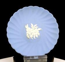 "WEDGEWOOD ENGLAND BLUE JASPERWARE FLORAL FLUTED SWIRL 4 7/8"" TRINKET DISH 1940"