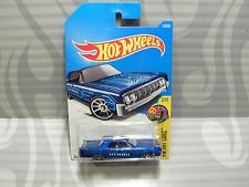 2017 HOT WHEELS ''HW ART CARS'' #15 = `64 LINCOLN CONTINENTAL = Blue   int