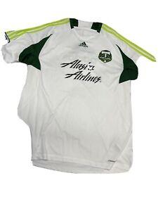 Adidas MLS Portland Timbers Soccer Training Jersey XXL Climacool White