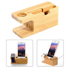 Bamboo Charging Dock Station Charger Holder Stand for Apple Watch iPhone 6s 7 8
