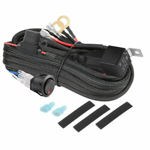 1-Way Wiring Loom Harness Kit 12V Relay Switch 40A Fuse Fr LED Driving Light Bar