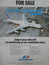 5/1981 PUB AIR FRANCE AIRLINE BOEING 707-328 AIRLINER FOR SALE ORIGINAL AD