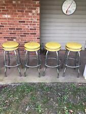 4 Vintage Cosco Swivel Stools Bar/ Soda Fountain 50's