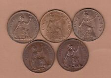 More details for five george v & vi pennies 1935/1936/1937/1945 & 1946 in near mint condition