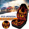 Universal Car Van Seat Cushion Front Seat Cover Protect Back Support Skull Print