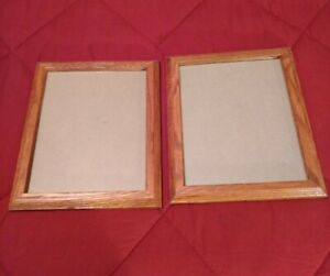 8 x 10 Inch Wood With Glass Face - Picture Frames - Set of 2 - Home Decor - NOS