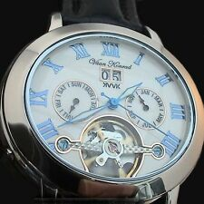 NEW MENS AUTOMATIC VAAN KONRAD 35 JEWEL OPEN HEART WATCH. UNIQUE OVAL DESIGN VK9
