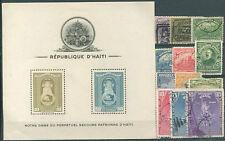 HAITI 12 Different Stamps + 1 Block VERY NICE!