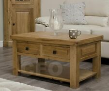 Claridge solid oak furniture living room lounge storage coffee table