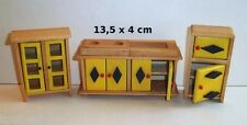 cuisine vintage en bois miniature,maison de poupée,vitrine, meuble cuisine  *B3