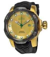 Invicta Venom Sea Dragon Automatic Gold Dial Black Silicone Men's Watch 19315 SD