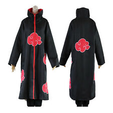 Anime NARUTO Cosplay Costume Akatsuki Ninja Wind Coat Uniform Cloak Halloween