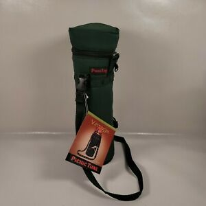 Picnic Time Inc. Wine Cooler Bag - Drink Carrier Tote - Insulated w/ Strap - NEW