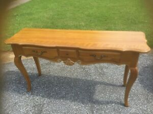 French country ethan allen console/sofa table - 246 finish