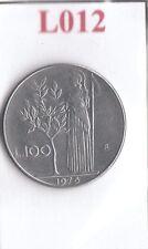 L012 Moneta Coin ITALIA Repubblica Italiana 100 Lire 1976 Minerva 1° Tipo