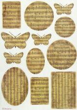 Papel De Arroz-música y mariposas