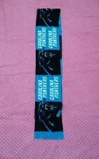 NFL FLEECE SCARF CAROLINA PANTHERS APPROX 60 x 6 inches UNISEX MULTI- COLOR