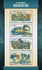 Sierra Leone 2018 MNH Reichstag Fire Engines Paul von Hindenburg 4v M/S Stamps