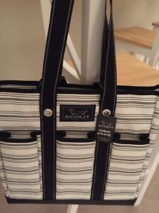 SCOUT Pocket Rocket Tote Bag, New with Tags, black and white striped