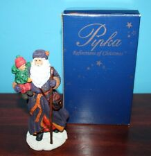 Pipka Santa Figurine Sculpture The Christmas Traveler Reflections of Christmas