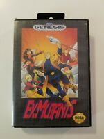 Ex-Mutants (Sega Genesis, 1992) Complete W/Game Cartridge, Case & Manual TESTED