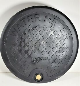 "Trumbull Type-C Polymer Water Meter Box Cover, 12-5/8"" lid for 11.25"" I.D. Ring"