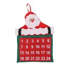 Calendrier de l'Avent Eponte Supérieure Décor Fête Noël Père Santa - Rouge