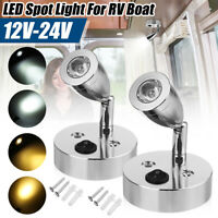 12-24V LED Projecteur Eclairage intérieur Applique Chevet Camping car Caravane