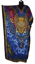 Gorgeous Long Kaftan, Digital Print Maxi Caftan, Night Gown, Sundress, Free Size
