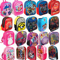 New Kids Childrens Toddlers Juniors Character Backpack Rucksack Lunch School Bag