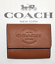 NWT COACH COIN CASE SADDLE CARD CASE MENS WALLET $95 F24652