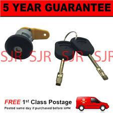 For Ford Courier Escort Fiesta KA Front Left Door Lock Barrel & 2 Keys