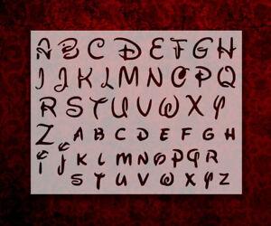 "Disney Alphabet Letters 1.2"" Font 11"" x 8.5"" Custom Stencil FREE SHIPPING (83)"