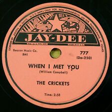 THE CRICKETS doo-wop 78 WHEN I MET YOU ~ Dreams & Wishes on MINT— Jay Dee RJ 647