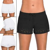 Women High Waist Bikini Bottoms Swim Shorts Briefs Beachwear Bath Pants Swimwear