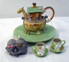 Vintage 1996 Precious Moments Noah's Ark Doll Mini Tea Set #270121