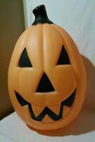 "Vintage 21"" Blow Mold Halloween Pumpkin Empire Used Orange 90s (no cord/light)"