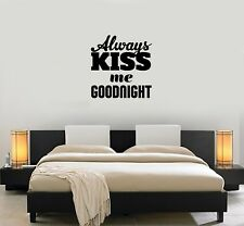 Vinyl Decal Sticker Mural Decor for Bedroom Good night Quote Unique Gift (g108)